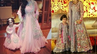 Matching indian outfits for mom and daughter/indian wedding outfits for mother and daughter