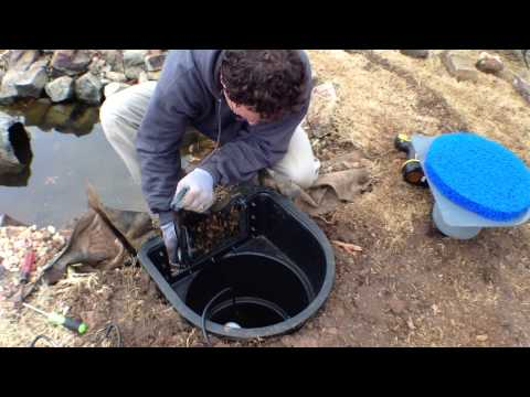Helix Pond Skimmer Retro Fit Installation
