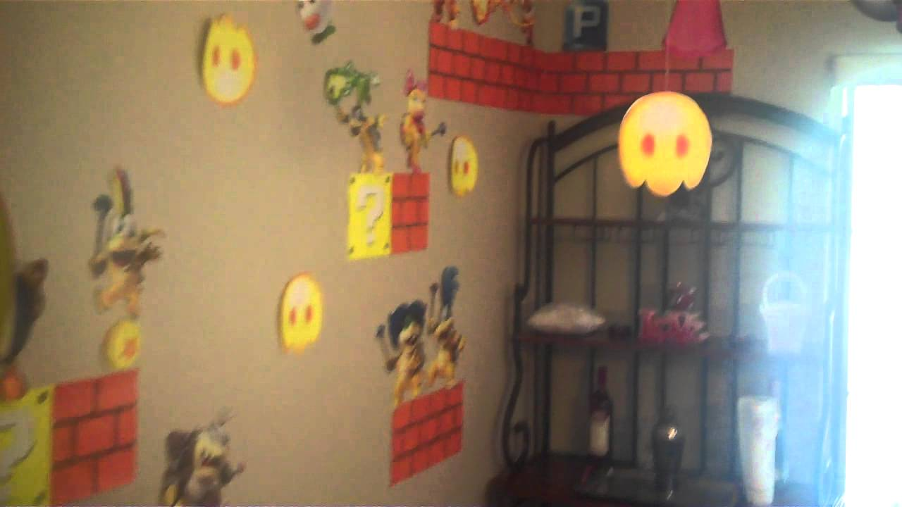 Super mario bros party decorations youtube for Mario decorations