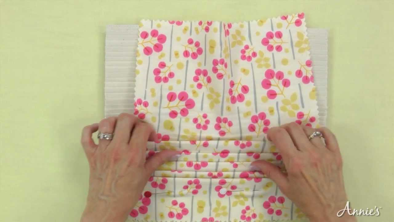 learn how to make pleats using the perfect pleater   youtube