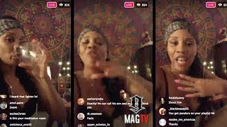 """Get The $trap"" Rick Ross ""BM"" Tia Goes In On His Mother & Sister On IG Live!"