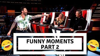 The voice usa| funny moments blind auditions PART 2