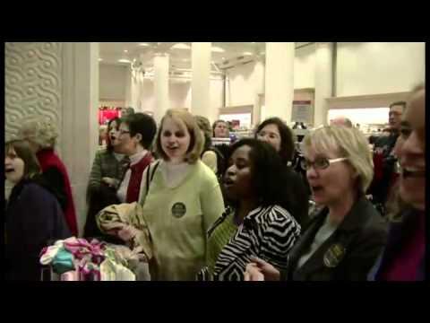 Hallelujah Chorus at Macys! Random Act of Culture, & Christmas Food Court (m