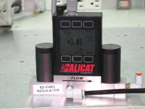 Alicat Scientific MC  MC Mass Flow  Controller 動作確認