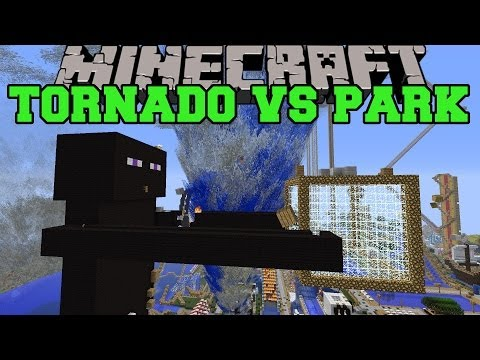 TORNADO MOD VS FUNLAND Minecraft Mods Vs Maps Destructive Weather Amusement Park