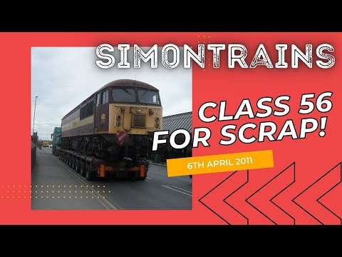 It's an sad day to see one of the Class 56's leaving for T J Thompson - Stockton on Tees for Scrapyard, DB Schenker announced that it be scrapping the Class ...
