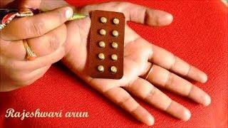 Simple Latest Mehndi Design For Hands * Easy Beautiful Mehndi Henna using medicine strip