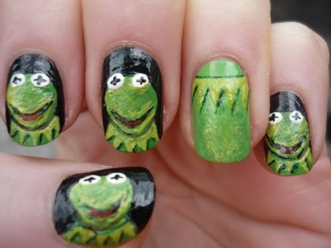 Kermit the Frog Nail Art Tutorial