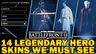 14 LEGENDARY HERO SKINS WE MUST SEE! Star Wars Battlefront 2