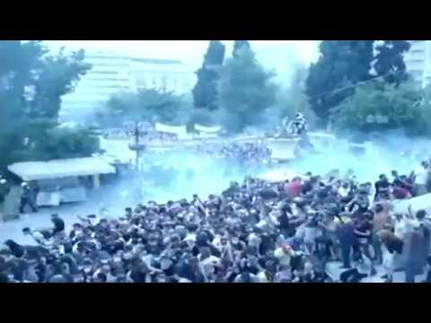 Occupy Greece - Police Clash With Protesters