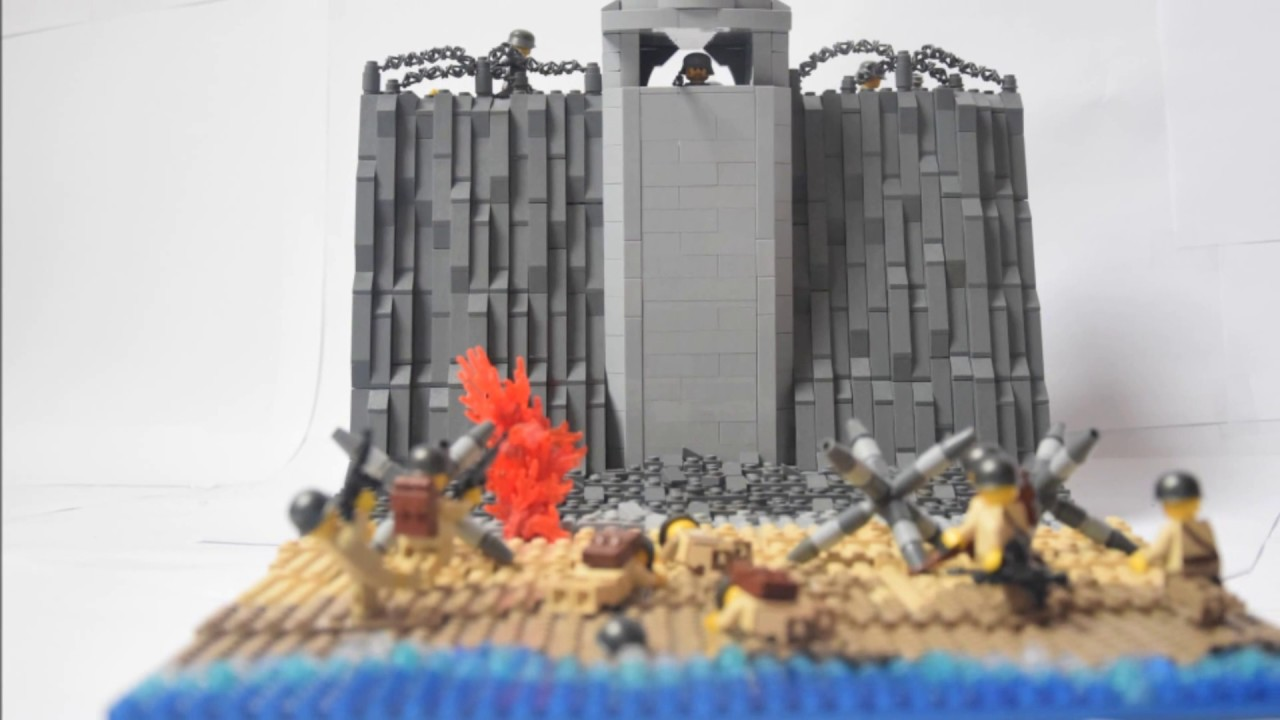 Lego ww2 omaha beach youtube for Siege lego france
