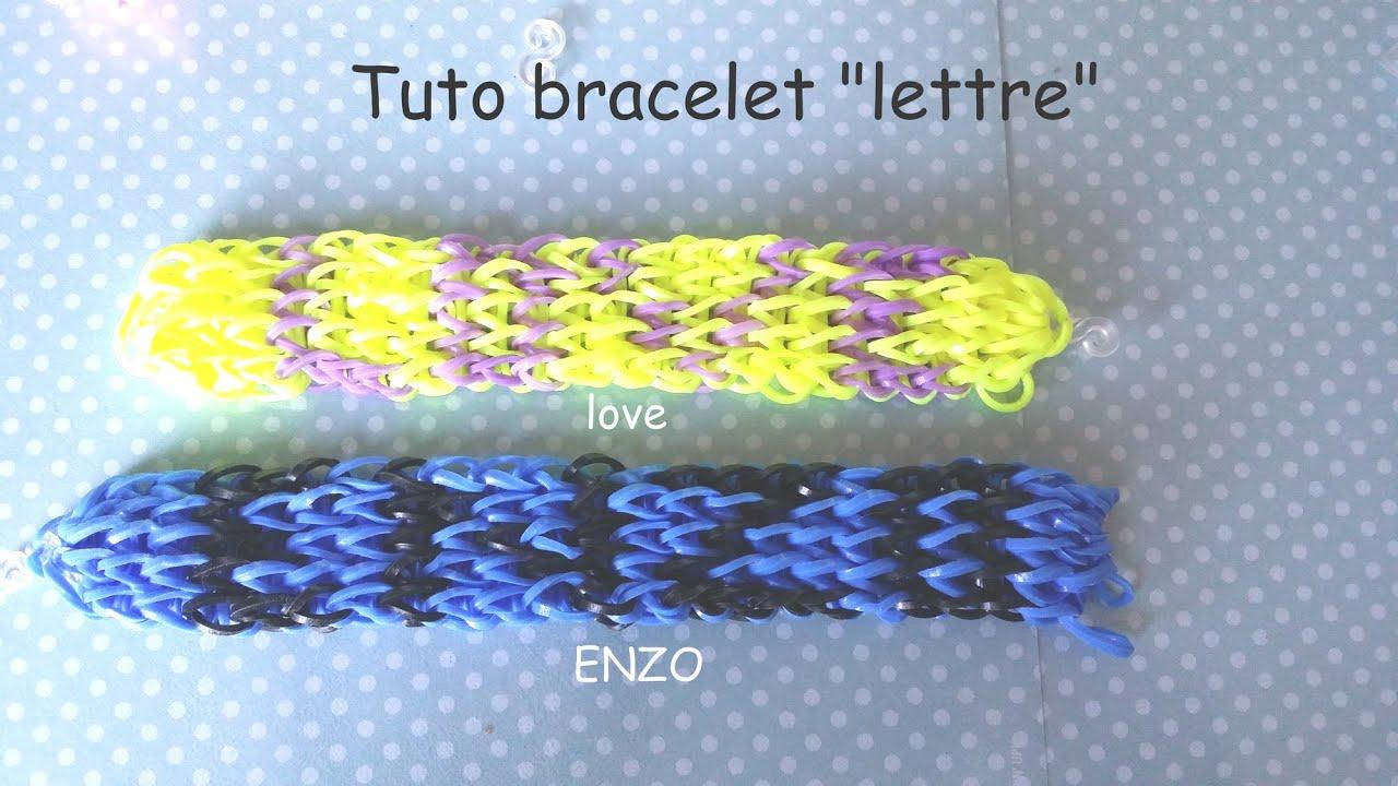 Tuto bracelet lastique lettre pr nom youtube - Comment faire les bracelet elastique ...