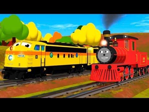 Развивающий мультфильм для детей: Паровозик Шонни. Учим размеры.