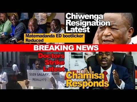 Zimbabwe News, Chiwenga Resignation, Chamisa Responds, Matemadanda Reduced, Doctors, Nurses Strike