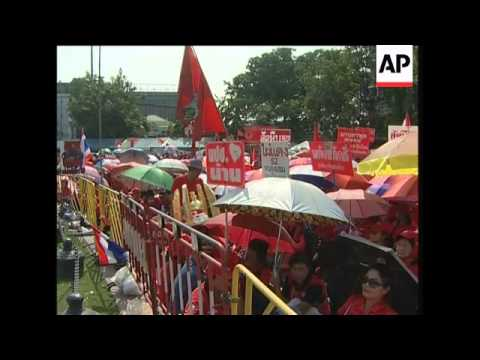 Former Thai PM Thaksin's supporters stage protest