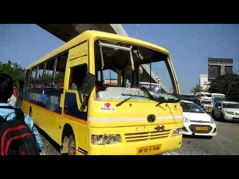 Inter students crushed #sri Chaitanya buses #kukatpally