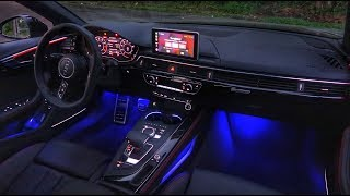 2018 Audi A4 Prestige Interior LED Lighting Overview