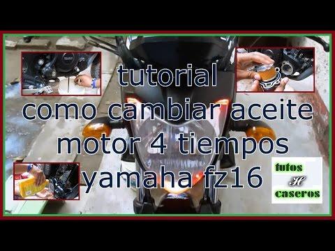 Tutorial Como Cambiar Aceite (H Tutoriales) Yamaha fz 16