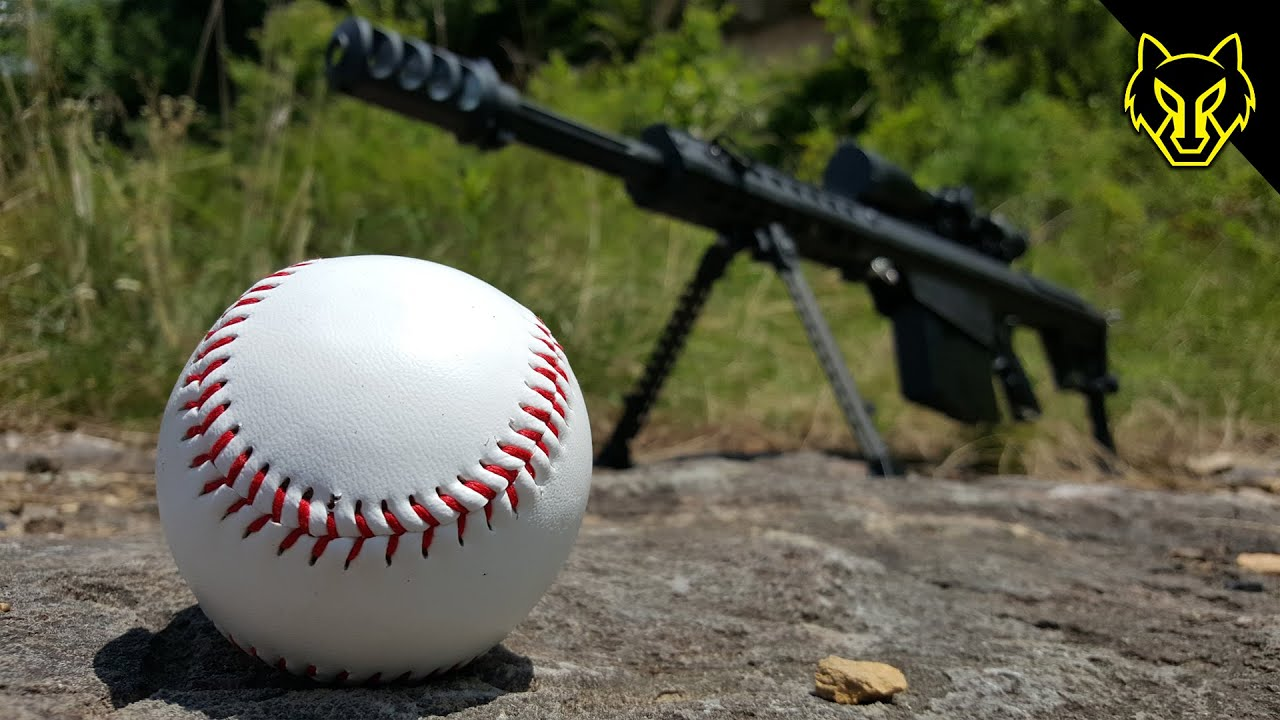 [What Will A .50 Cal Bullet Do To A Baseball?] Video