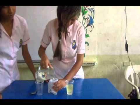 Video Escolar Tipos de separación de mezclas: Decantación y Filtración
