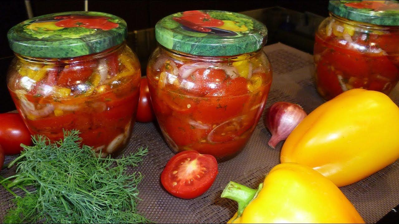 Салат из помидоров с перцем на зиму