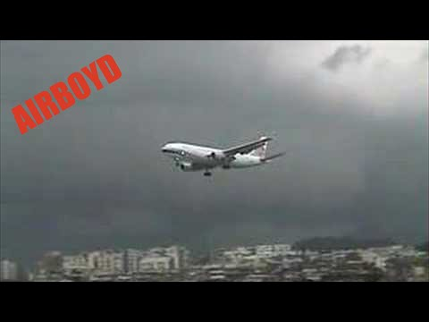 China Airlines Airbus landing Hong Kong Kai Tak Airport 香港 啟德機場 1