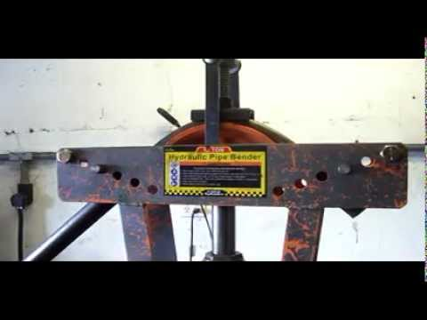 Harbor Freight Pipe Bender with Add-On Fix and Modified Bottle Jack