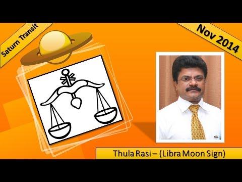 Thula Rasi (Libra Moon Sign) : Saturn Transit Nov 2014