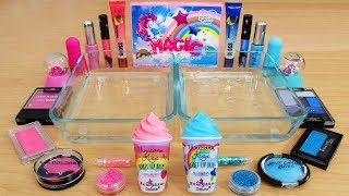Pink vs Blue - Mixing Makeup Eyeshadow Into Slime Special Series 135 Satisfying Slime Video