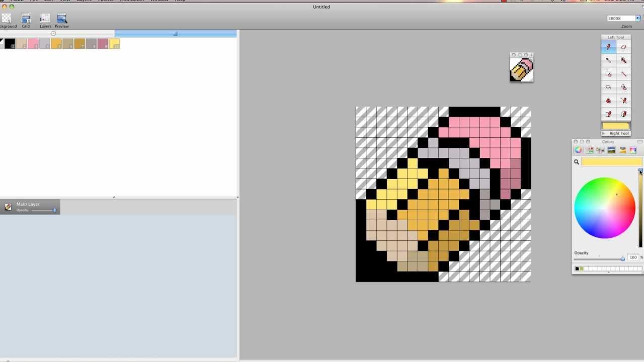 Pixel Art Tutorial Pencil Badgemp4 YouTube