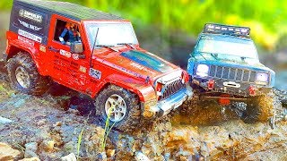 RC Cars OFF Road – Jeep vs Jeep – Cherokee vs Rubicon – Axial SCX10 II vs MST CFX — wilimovich