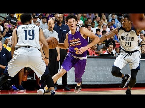Lonzo Ball vs Dennis Smith Jr! Ball Calf Injury NBA Summer League 2017!