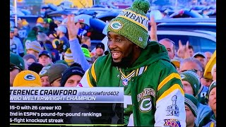 TERENCE CRAWFORD MAKES HUGE ANNOUNCEMENT ON ESPN MONDAY NIGHT FOOTBALL