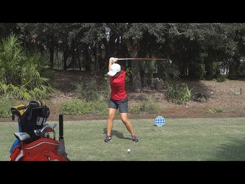LYDIA KO - PERFECT FACE ON DRIVER GOLF SWING 2013 - REG & SLOW MOTION - 1080p