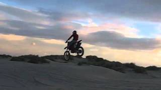 Honda CRF250 jump fail, crash!!!