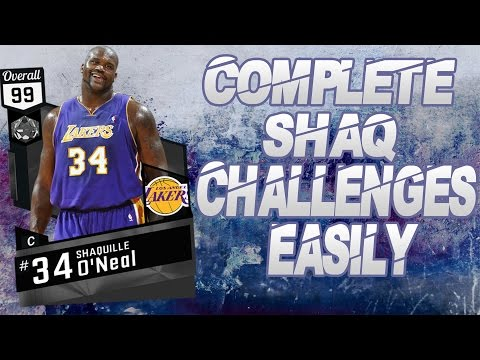 How To Complete Shaq Challenges NBA 2K17 My Team