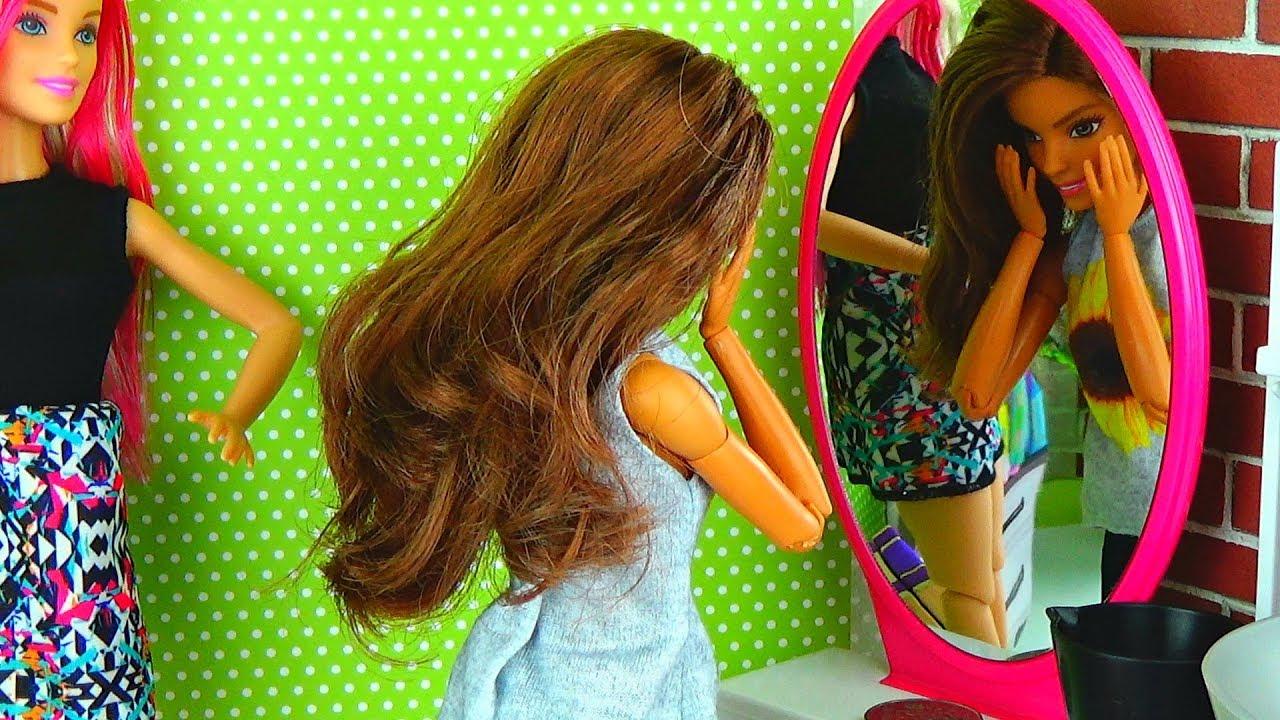 Как сделать красивую прическу барби куклы 112