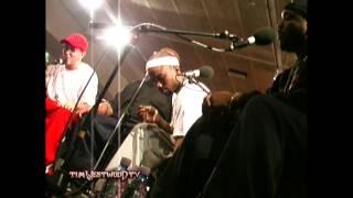Eminem & D12 freestyle FULL LENGTH VERSION - backstage in London 2001 - Westwood