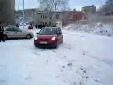 Zima 2009 2010 śmieszne upadki wypadki