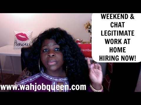 LEGITIMATE WORK AT HOME JOBS - CHAT, WEEKEND JOBS, NON PHONE & MORE! *HIRING NOW*
