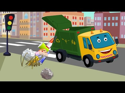 garbage truck | kids video | car cartoons