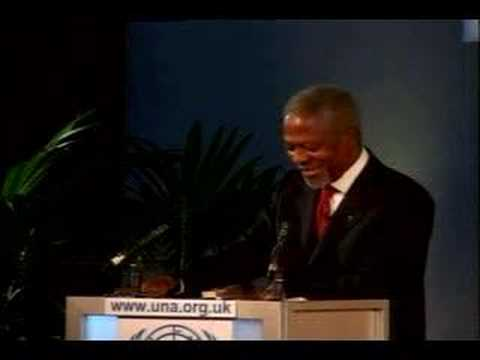 4 UNA-UK Kofi Annan speech 2006 - Kofi Annan (Part One)