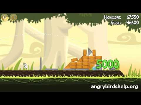 Angry Birds Level 6-1 - 3 Star Walkthrough