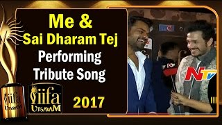 Me and Sai Dharam Tej Performing Tribute Song - Akhil Akkineni @ IIFA Utsavam || #IIFAUtsavam2017