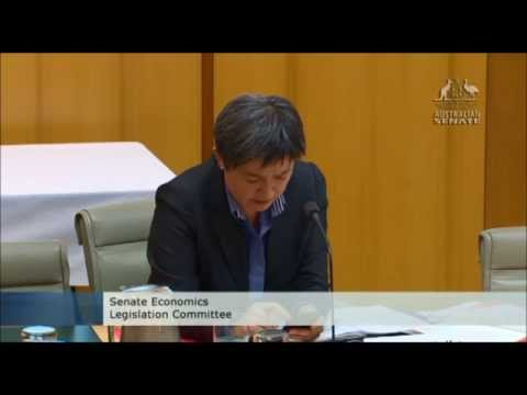 Penny Wong of the right wing ALP questions treasury official about Abbott's $7 GP Tax