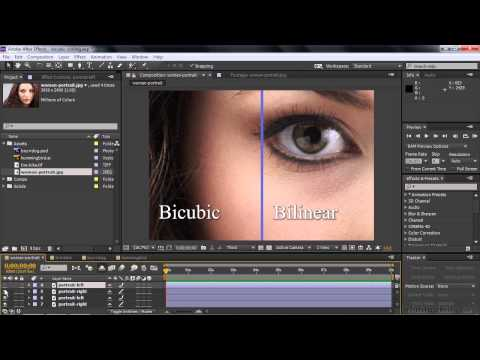 Adobe After Effects CC Tutorial | Setting Scaling Quality Using ...