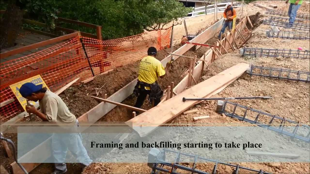 Building A Retaining Wall Into A Hillside