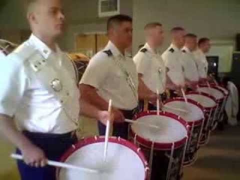 Old Guard FDC drumline rehearses Joe90 #1
