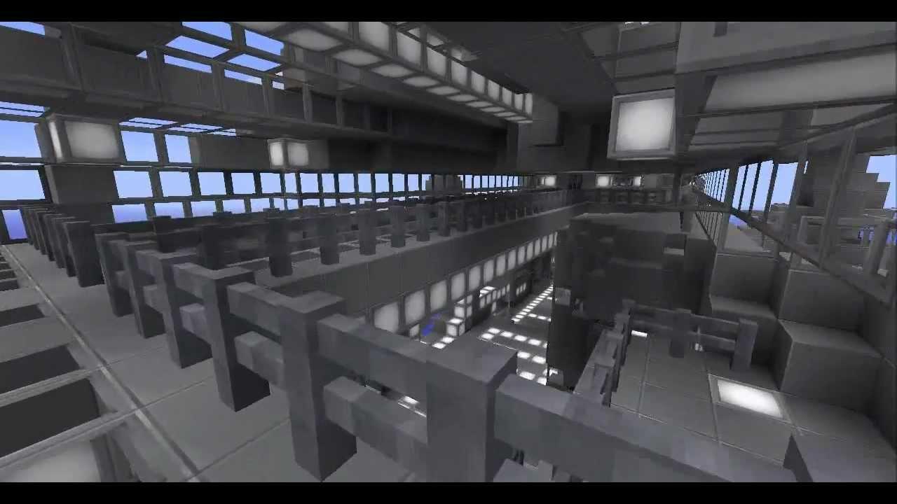Minecraft SpaceShip (high detail) - YouTube