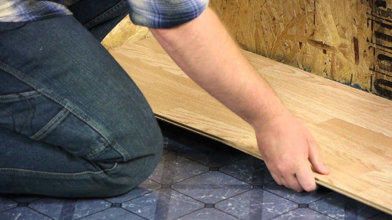 How to lay tile effect laminate flooring